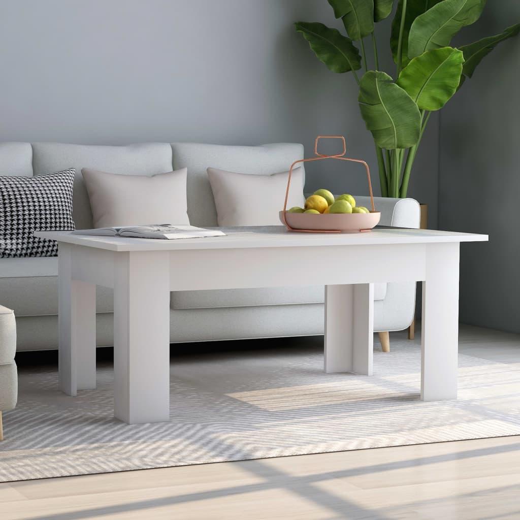 Konferenční stolek bílý 100 x 60 x 42 cm dřevotříska