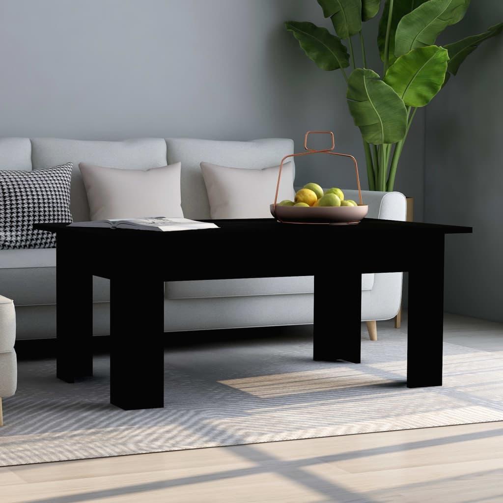 Konferenční stolek černý 100 x 60 x 42 cm dřevotříska