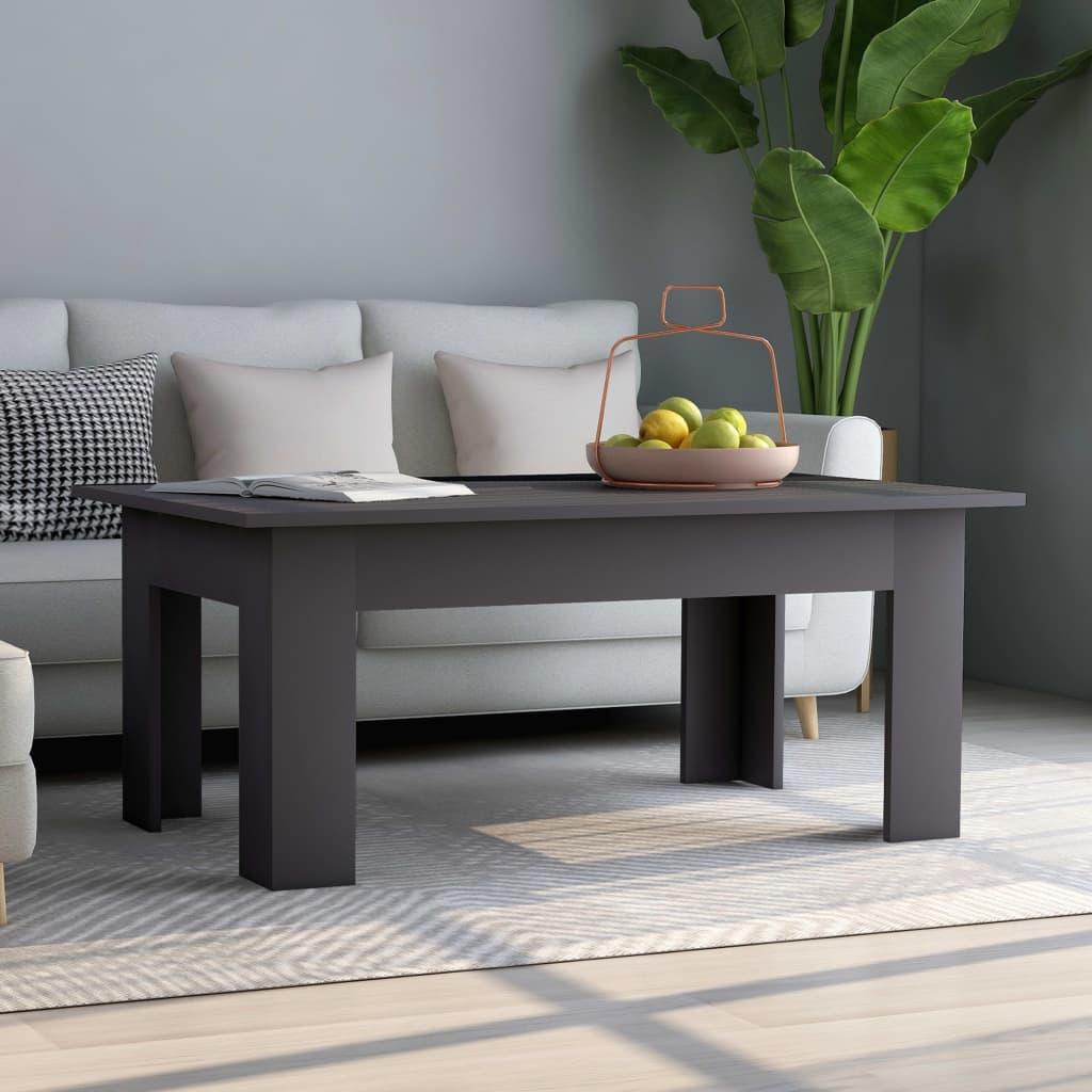 vidaXL Konferenční stolek šedý 100 x 60 x 42 cm dřevotříska