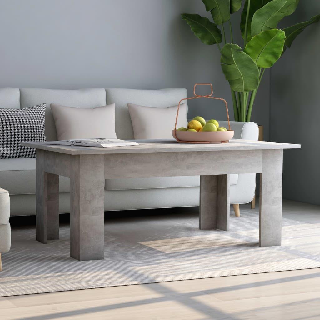 vidaXL Konferenční stolek betonově šedý 100 x 60 x 42 cm dřevotříska