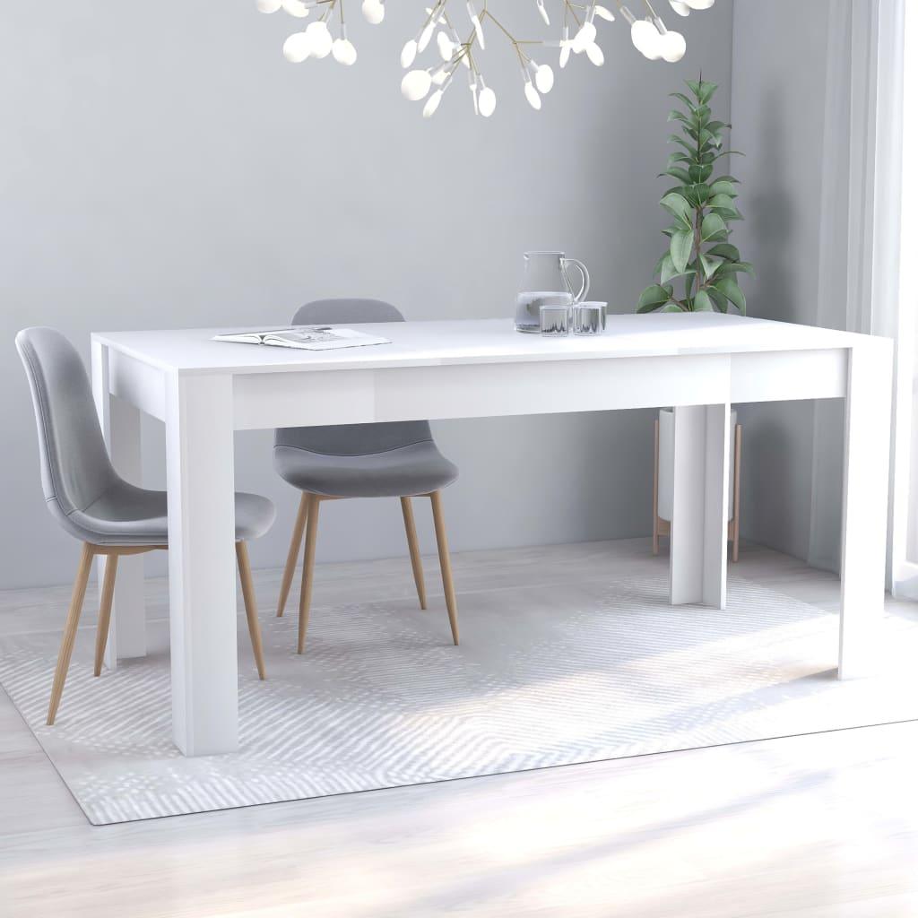 Jídelní stůl bílý 160 x 80 x 76 cm dřevotříska