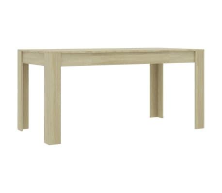 "vidaXL Dining Table Sonoma Oak 63""x31.5""x30"" Chipboard"