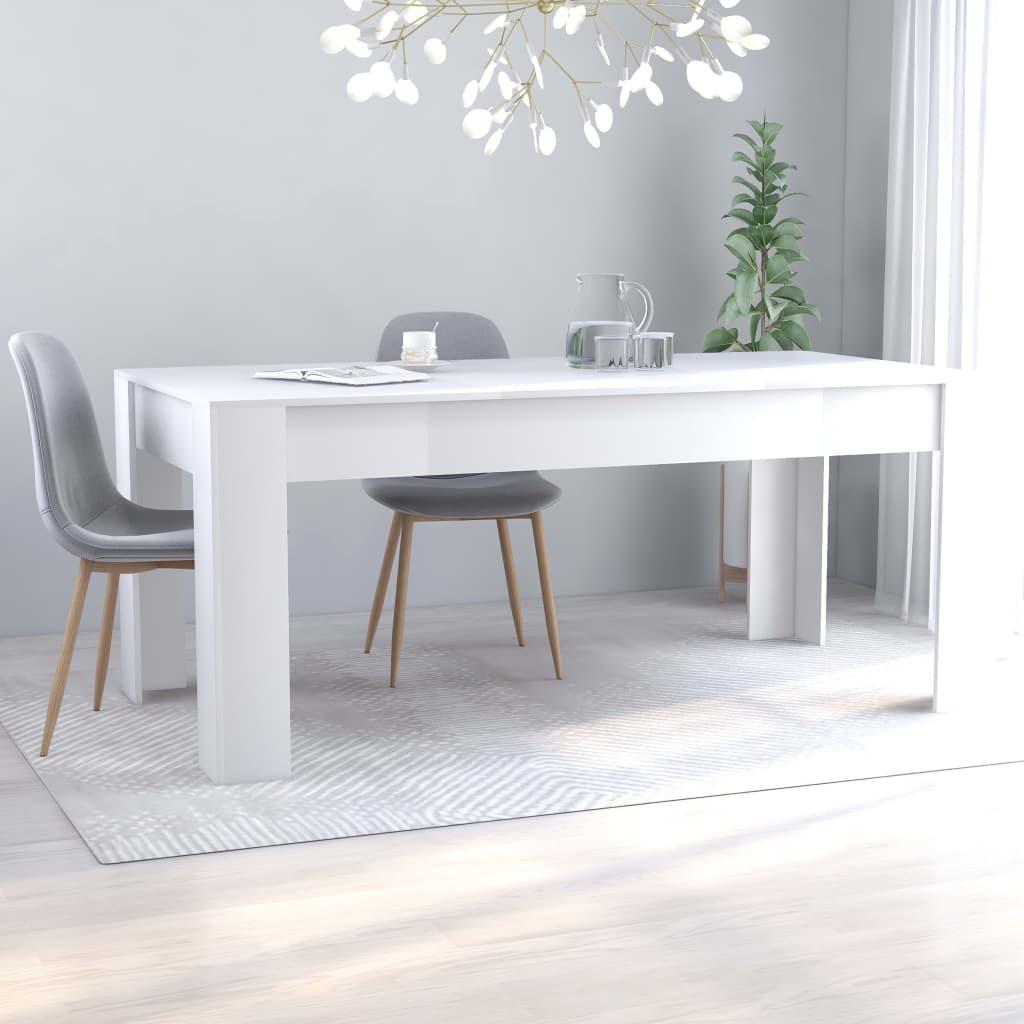 vidaXL Tavolo da Pranzo Bianco 180x90x76 cm in Truciolato