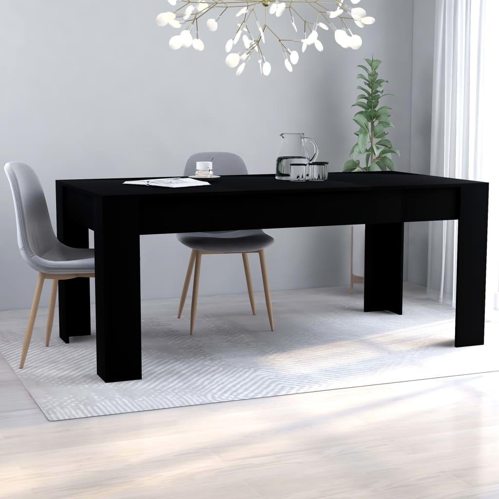 vidaXL Masă de bucătărie, negru, 180 x 90 x 76 cm, PAL vidaxl.ro