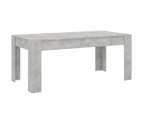 "vidaXL Dining Table Concrete Gray 70.9""x35.4""x29.9"" Chipboard"