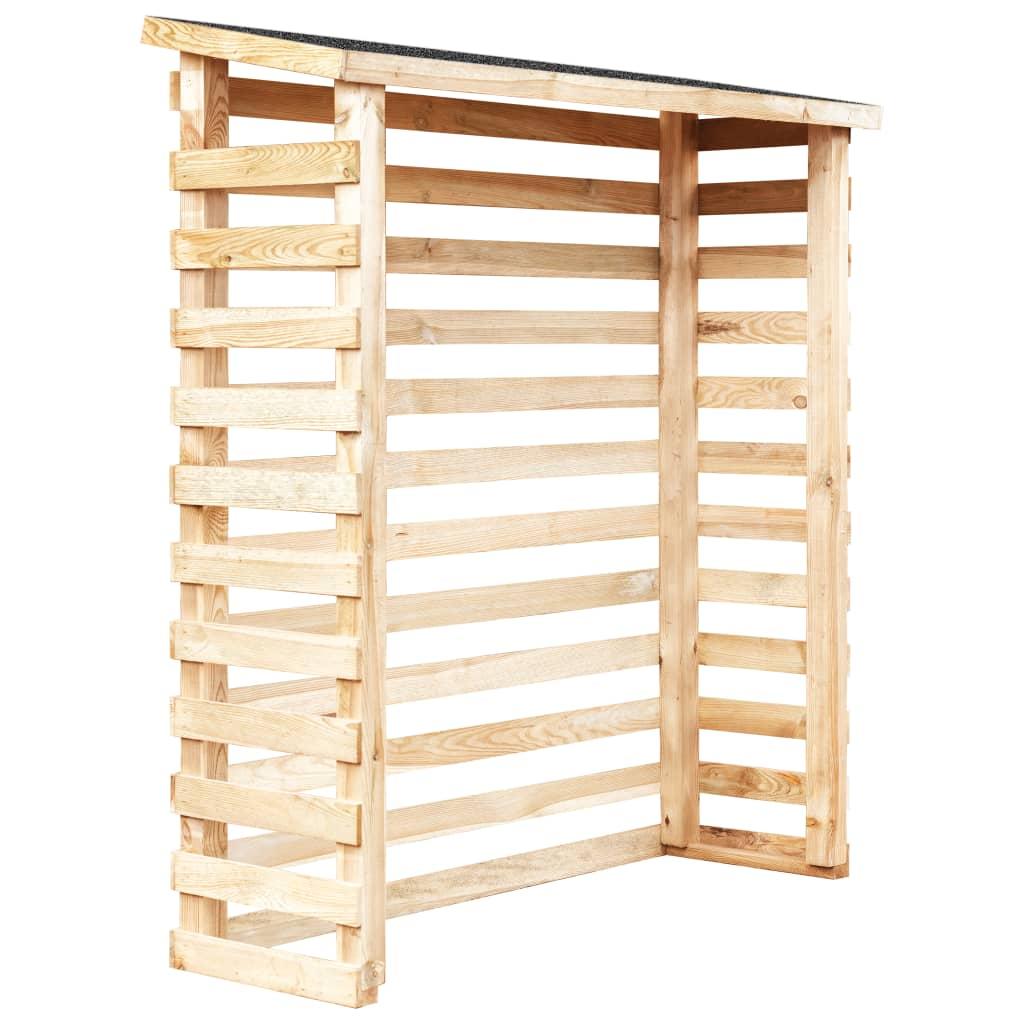 vidaXL Șopron de lemne de grădină, 160 x 50 x 170 cm, lemn de pin imagine vidaxl.ro
