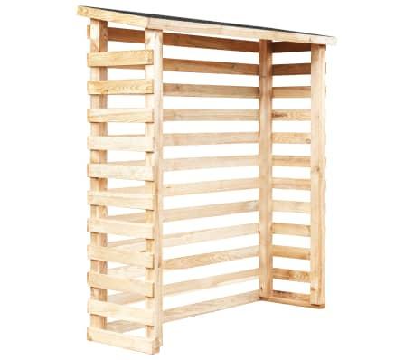 vidaXL Șopron de lemne de grădină, 160 x 50 x 170 cm, lemn de pin