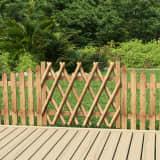 vidaXL Poartă de grădină, 100 x 80 cm, lemn de pin tratat