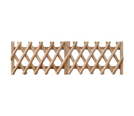 vidaXL Poorten 2 st 300x60 cm geïmpregneerd grenenhout