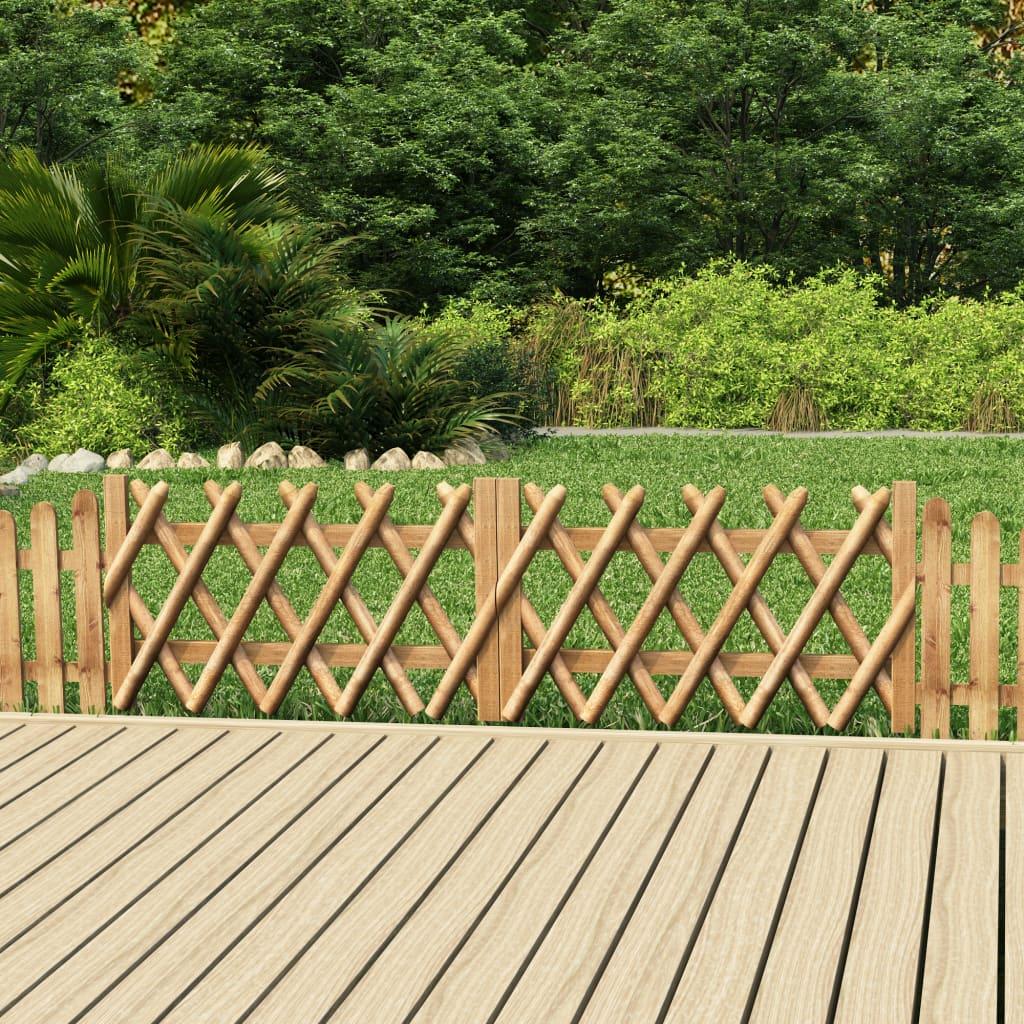 vidaXL Porți de grădină, 2 buc., 300 x 60 cm, lemn de pin tratat vidaxl.ro