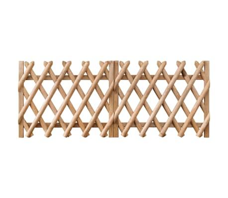 vidaXL Porți de grădină, 2 buc., 300 x 80 cm, lemn de pin tratat