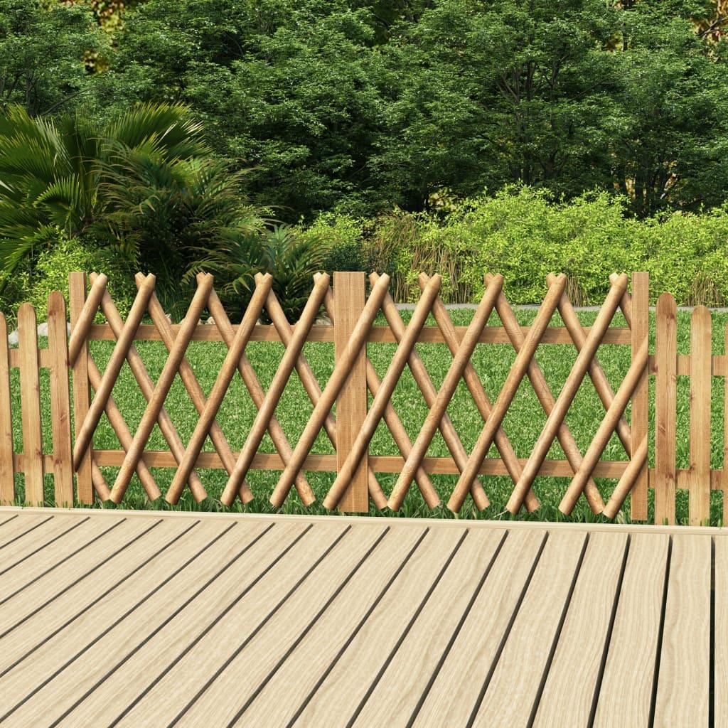 Zahradní brána 2křídlá impregnovaná borovice 300 x 80 cm