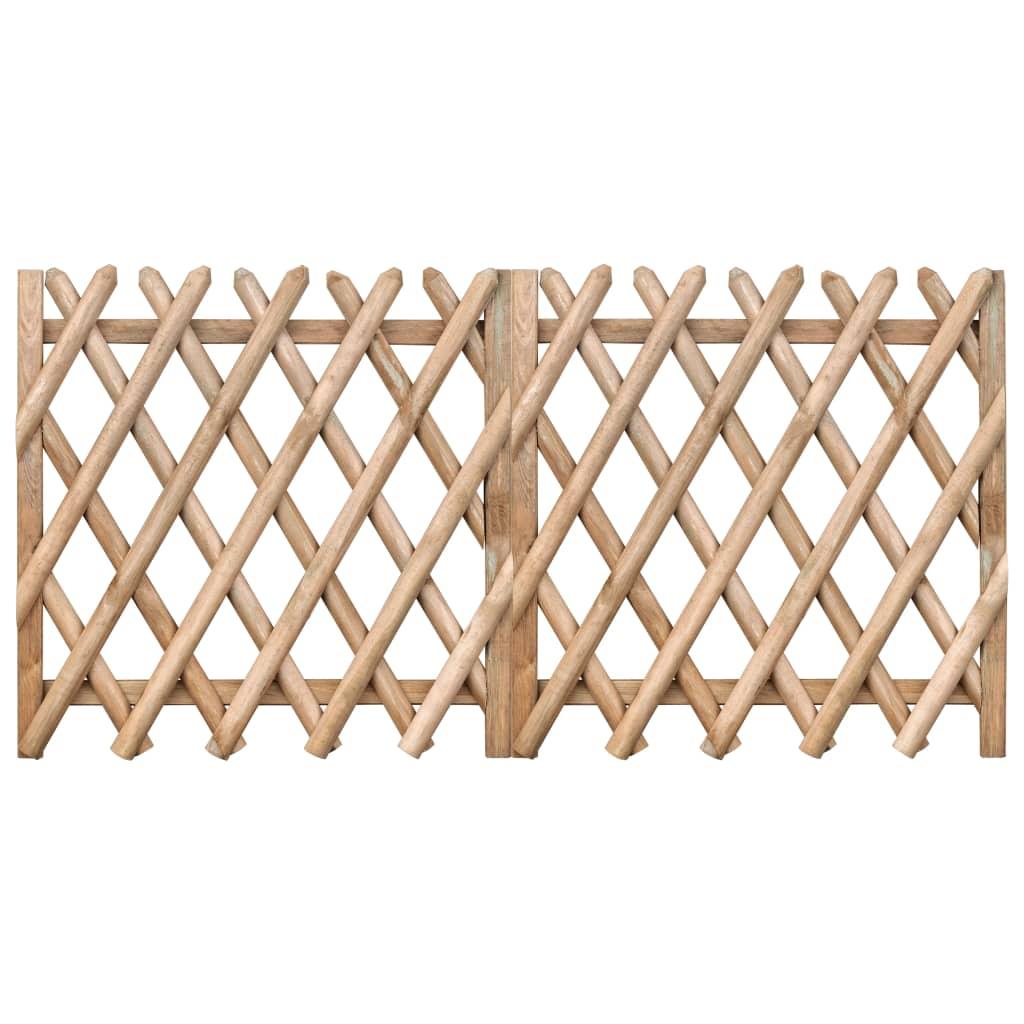 Zahradní brána 2křídlá impregnovaná borovice 300 x 100 cm