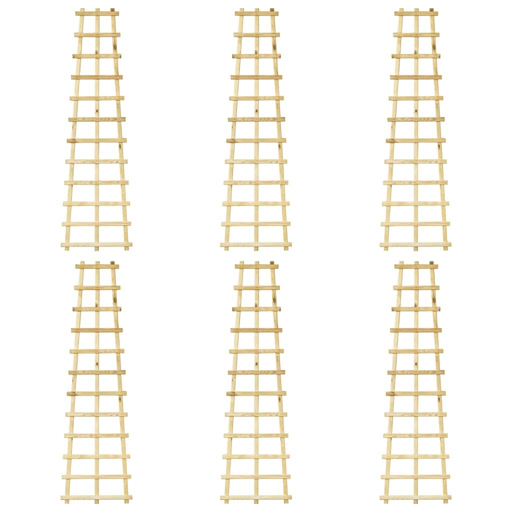 vidaXL Spaliere de grădină, 6 buc., 50 x 170 cm, lemn de pin tratat vidaxl.ro