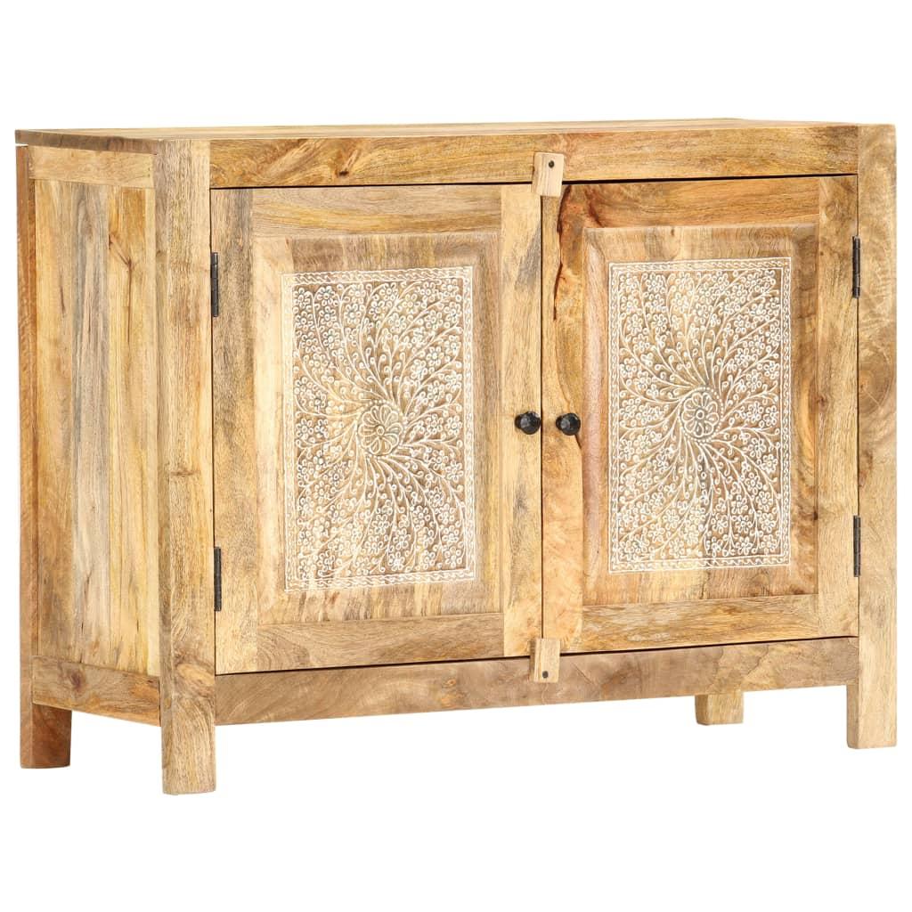 vidaXL Servantă sculptată manual, 90x35x68 cm, lemn masiv de mango vidaxl.ro