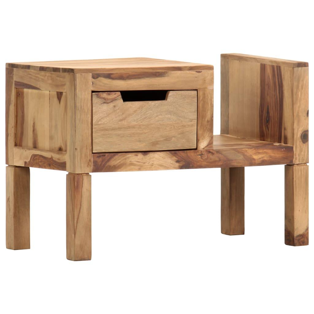 vidaXL Stojan na časopisy 58 x 30 x 40 cm masivní sheeshamové dřevo