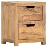 vidaXL Noptieră, 40 x 35 x 50 cm, lemn masiv de sheesham