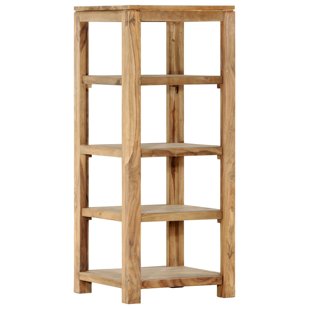 vidaXL Bibliotecă cu 4 rafturi, 43x43x105 cm, lemn masiv de sheesham imagine vidaxl.ro