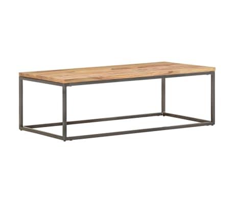 vidaXL Konferenční stolek hnědo-šedý 110 x 60 x 38 cm masivní sheesham