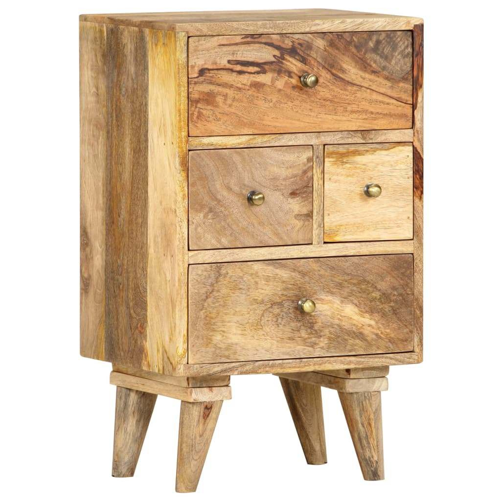vidaXL Noptieră, 36 x 30 x 60 cm, lemn masiv de mango poza vidaxl.ro