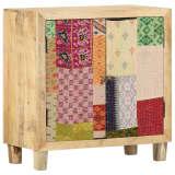 vidaXL Sideboard Patchwork 70x35x75 cm Solid Mango Wood