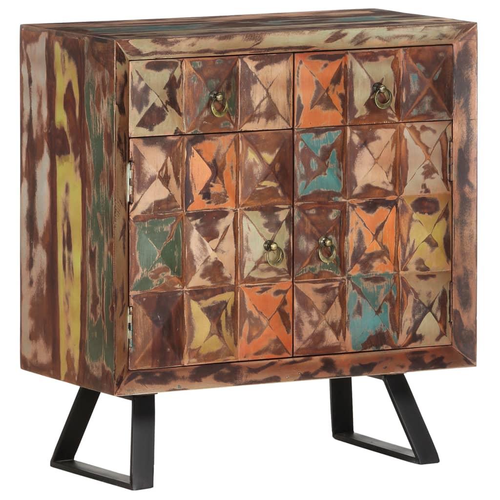 vidaXL Ντουλάπι με Συρτάρια 70 x 35 x 75 εκ. Μασίφ Ανακυκλωμένο Ξύλο