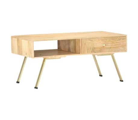 vidaXL Coffee Table 95x50x42 cm Solid Mango Wood