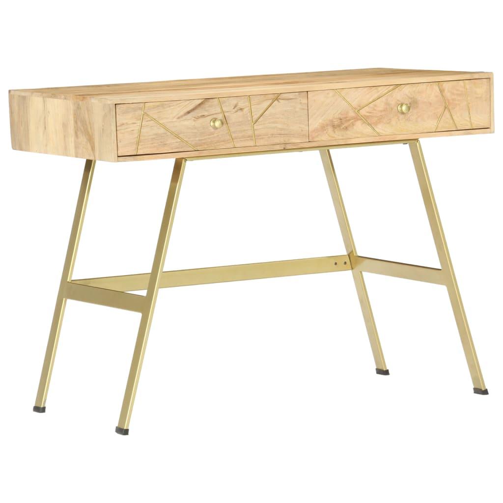 vidaXL Birou de scris cu sertare, 100 x 55 x 75 cm, lemn masiv mango poza 2021 vidaXL