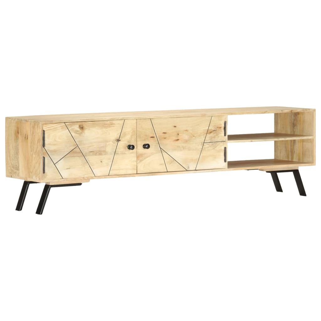 vidaXL Comodă TV, 140 x 30 x 40 cm, lemn masiv de mango vidaxl.ro