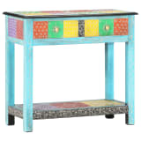 vidaXL Hand Painted Console Table 80x35x75 cm Solid Mango Wood
