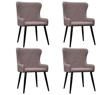 vidaXL Трапезни столове, 4 бр, розови, кадифе