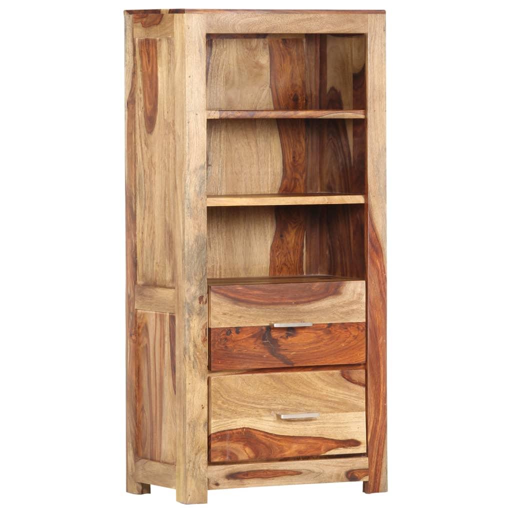 vidaXL Dulap înalt, 50 x 30 x 108 cm, lemn masiv de sheesham vidaxl.ro