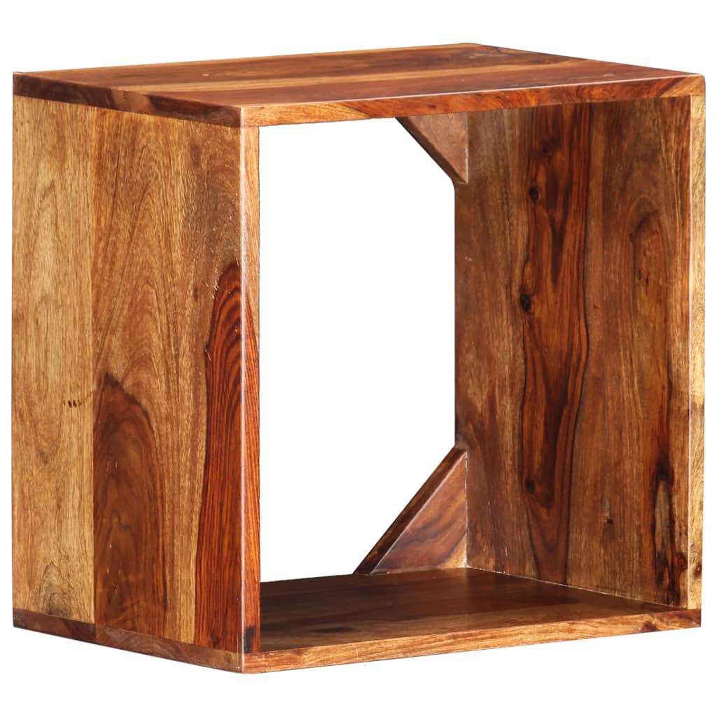 vidaXL Odkládací stolek 40 x 30 x 40 cm masivní sheeshamové dřevo