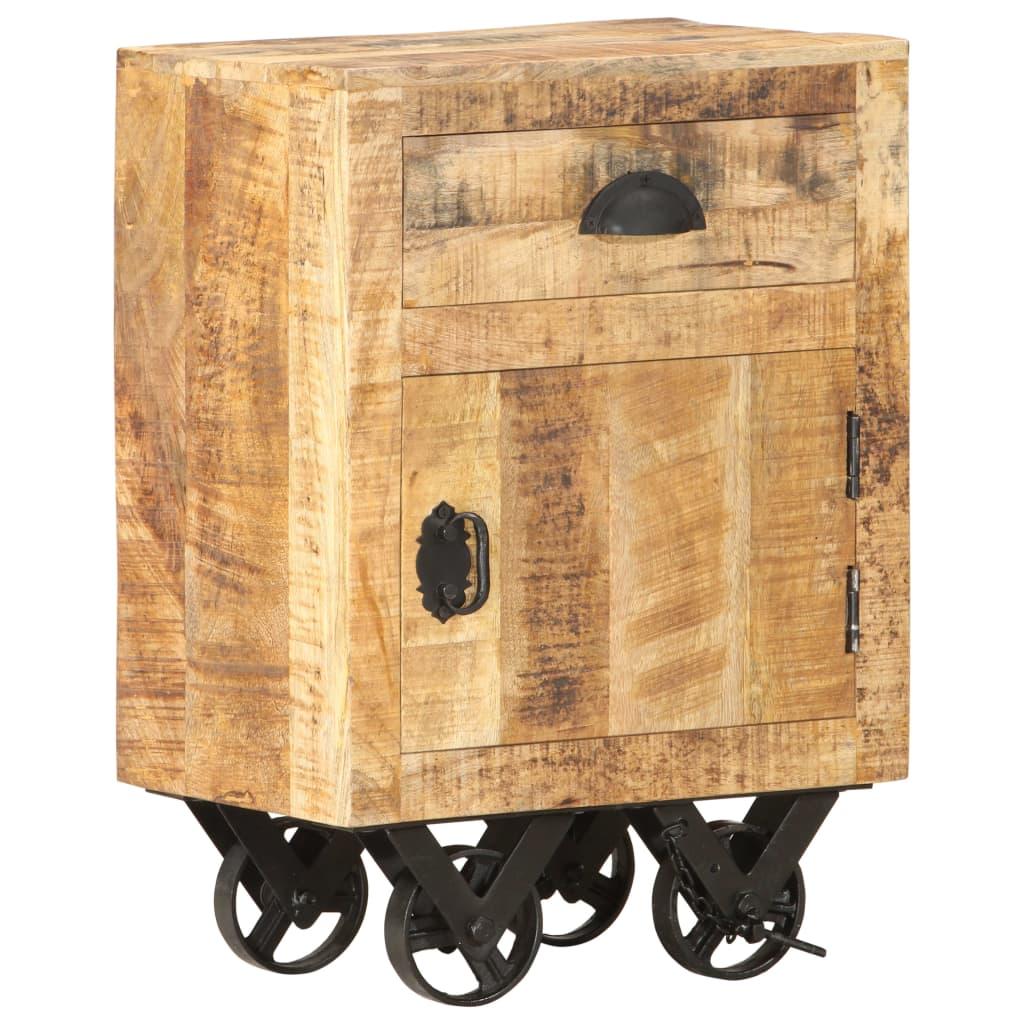 vidaXL Noptieră, 40 x 30 x 57 cm, lemn masiv de mango poza vidaxl.ro