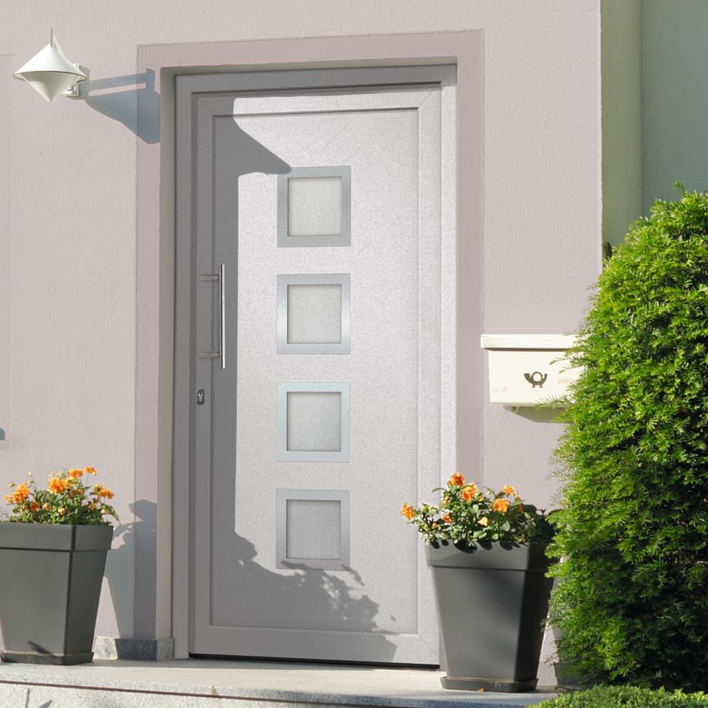 vidaXL Vchodové dveře bílé 98 x 200 cm