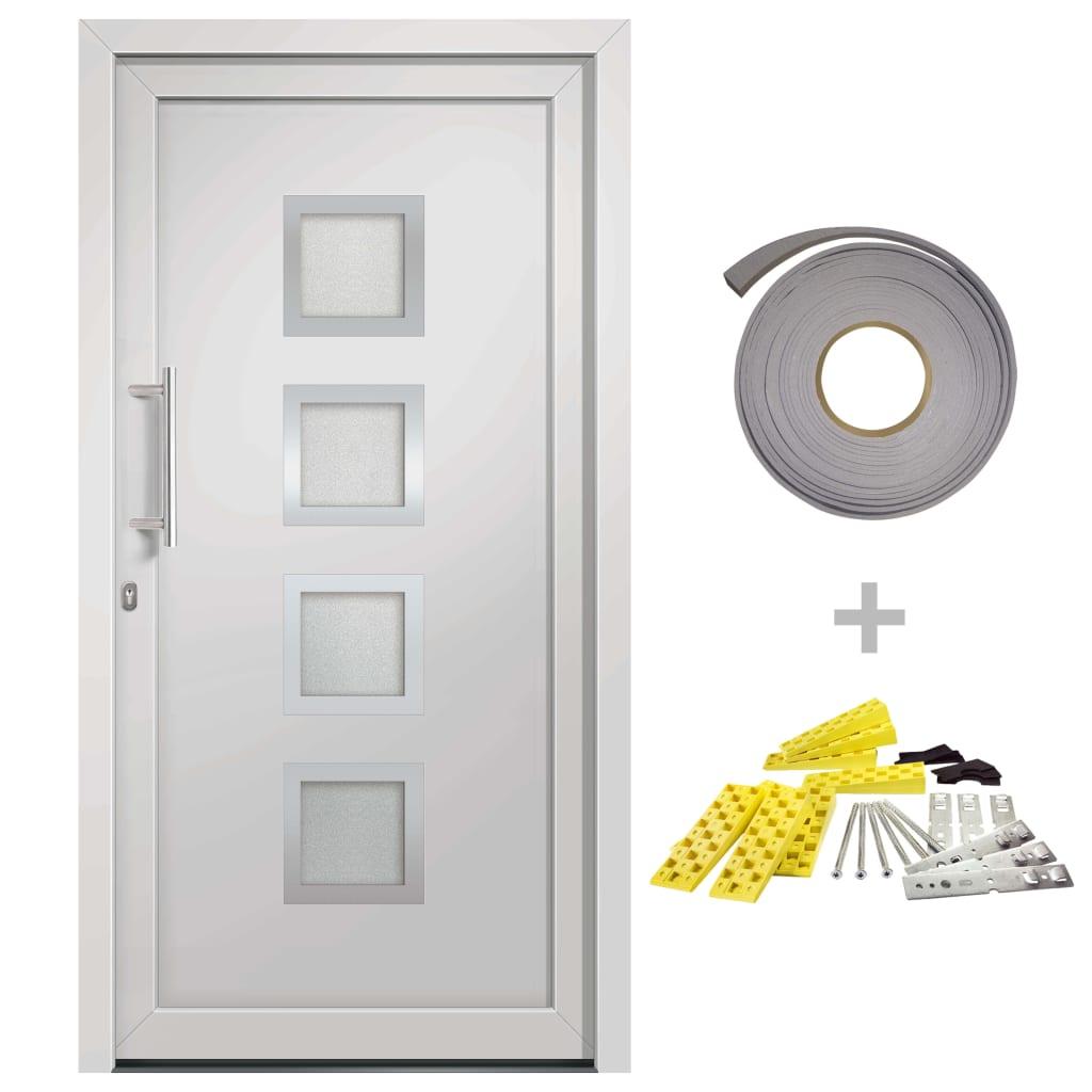 vidaXL Přední vchodové dveře bílé 108 x 208 cm