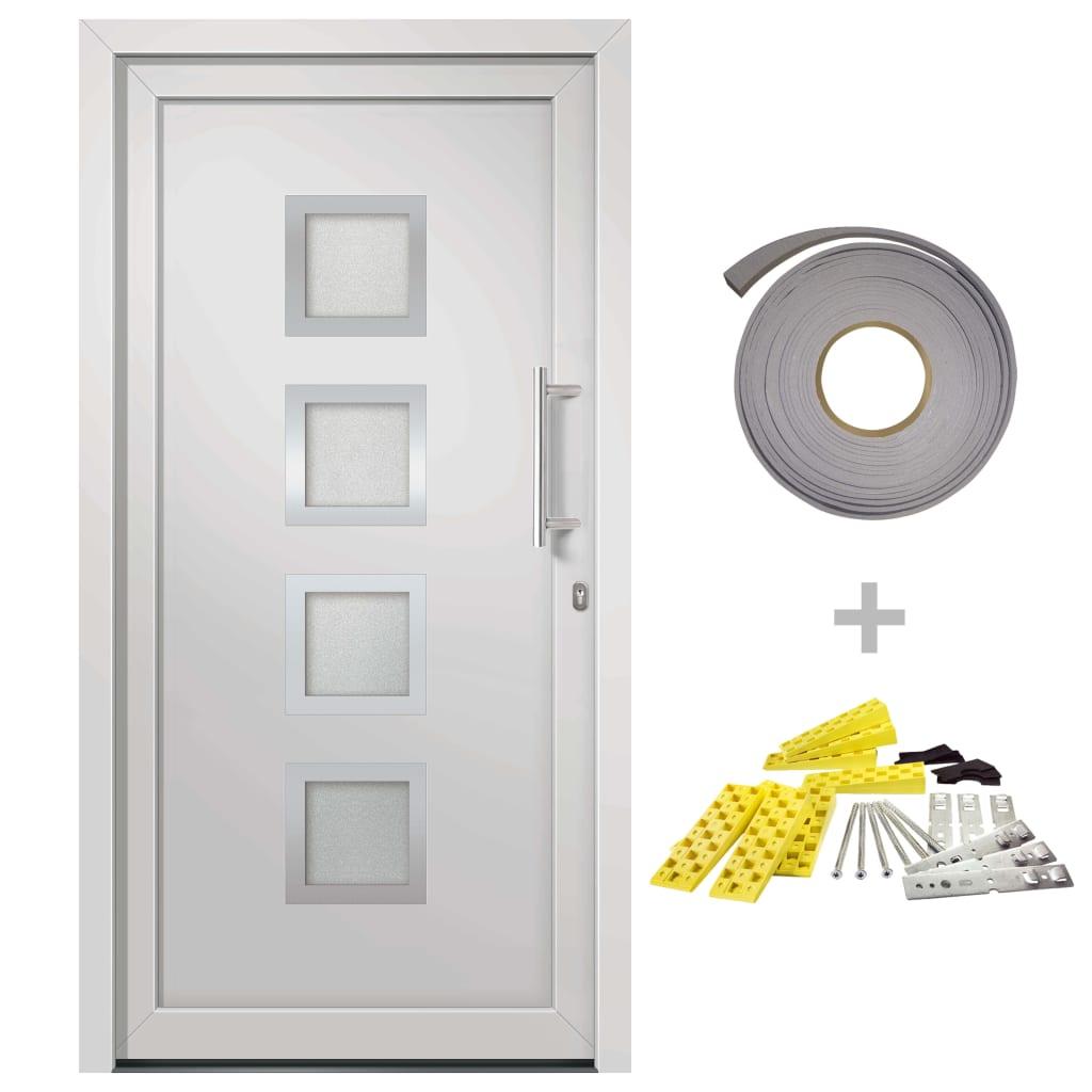 vidaXL Přední vchodové dveře bílé 98 x 190 cm