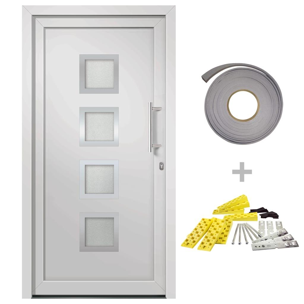 Přední vchodové dveře bílé 108 x 200 cm