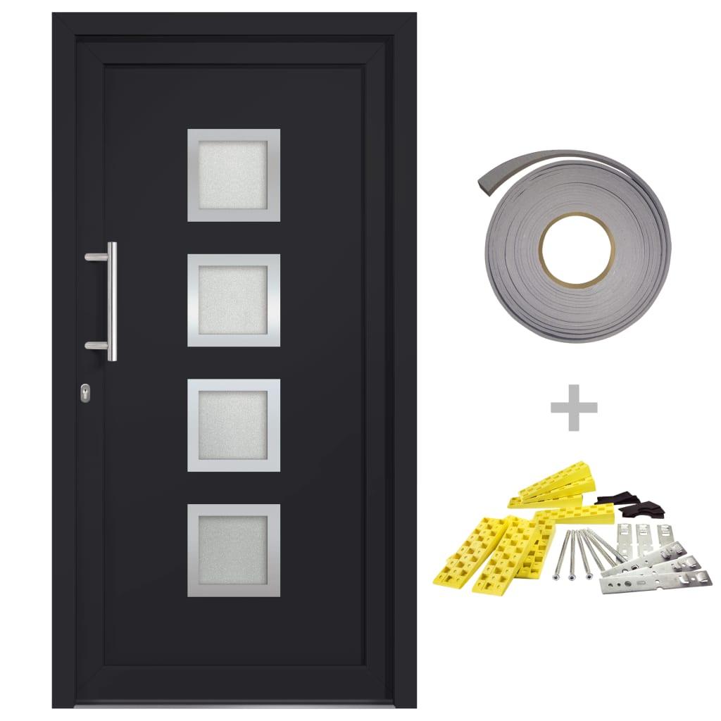 vidaXL Přední vchodové dveře antracitové 98 x 208 cm