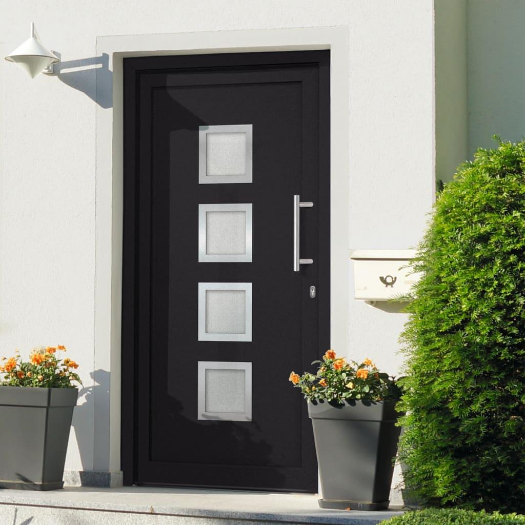 Vchodové dveře antracitové 98 x 190 cm