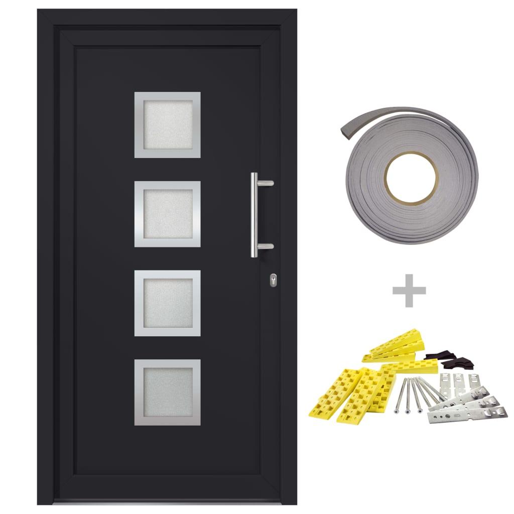 Přední vchodové dveře antracitové 98 x 208 cm