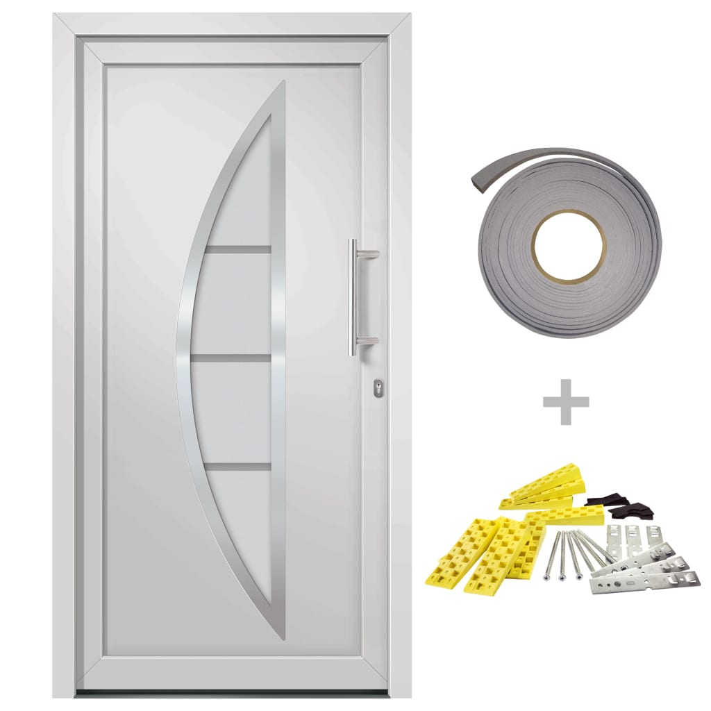 Přední vchodové dveře bílé 88 x 200 cm