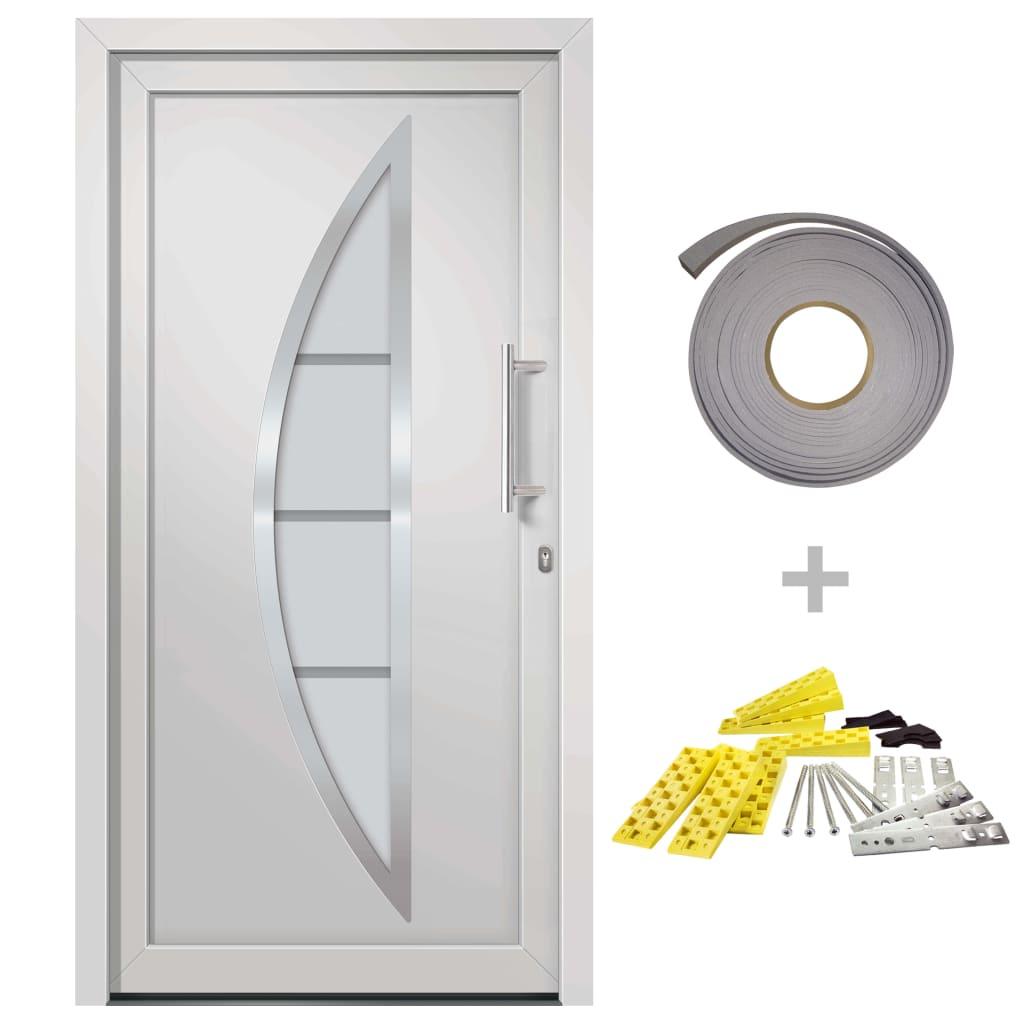 Přední vchodové dveře bílé 98 x 200 cm