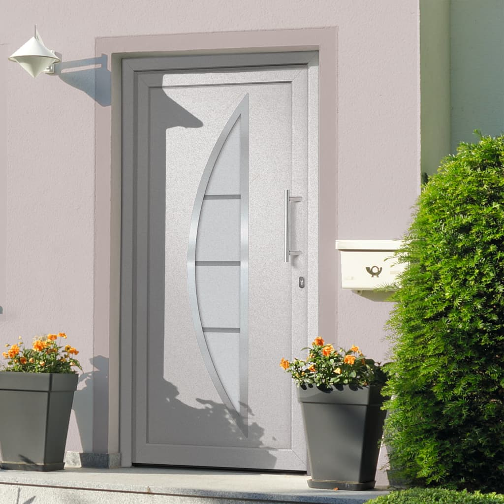 Vchodové dveře bílé 108 x 208 cm
