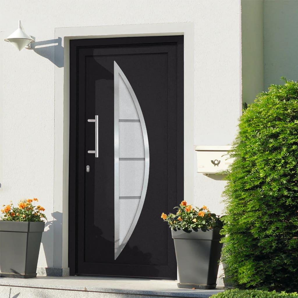 Vchodové dveře antracitové 98 x 208 cm