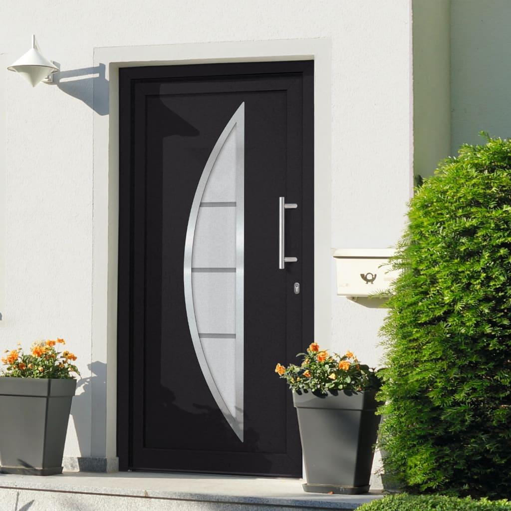 Vchodové dveře antracitové 88 x 200 cm