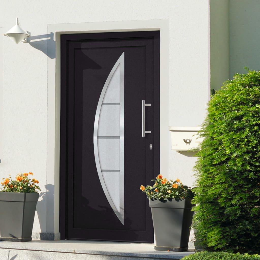 vidaXL Přední vchodové dveře antracitové 98 x 190 cm