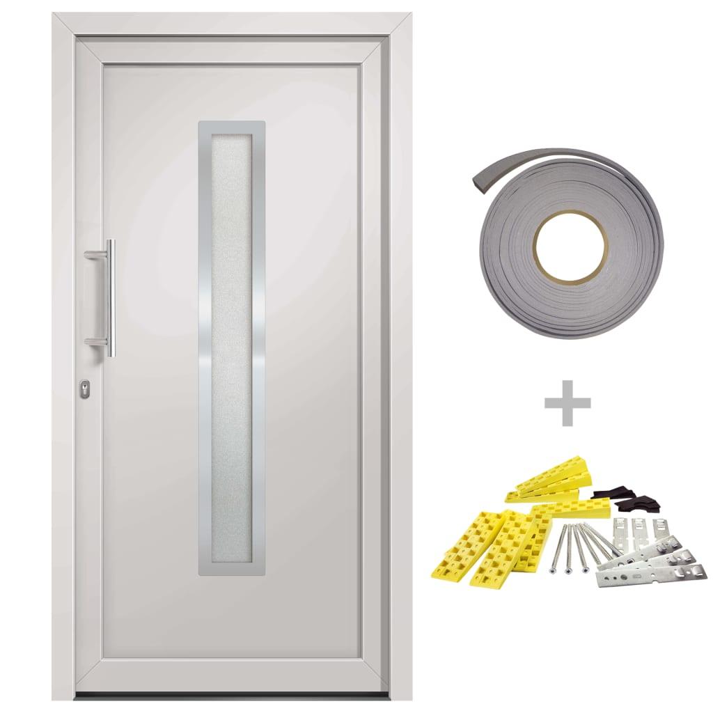 Přední vchodové dveře bílé 98 x 190 cm