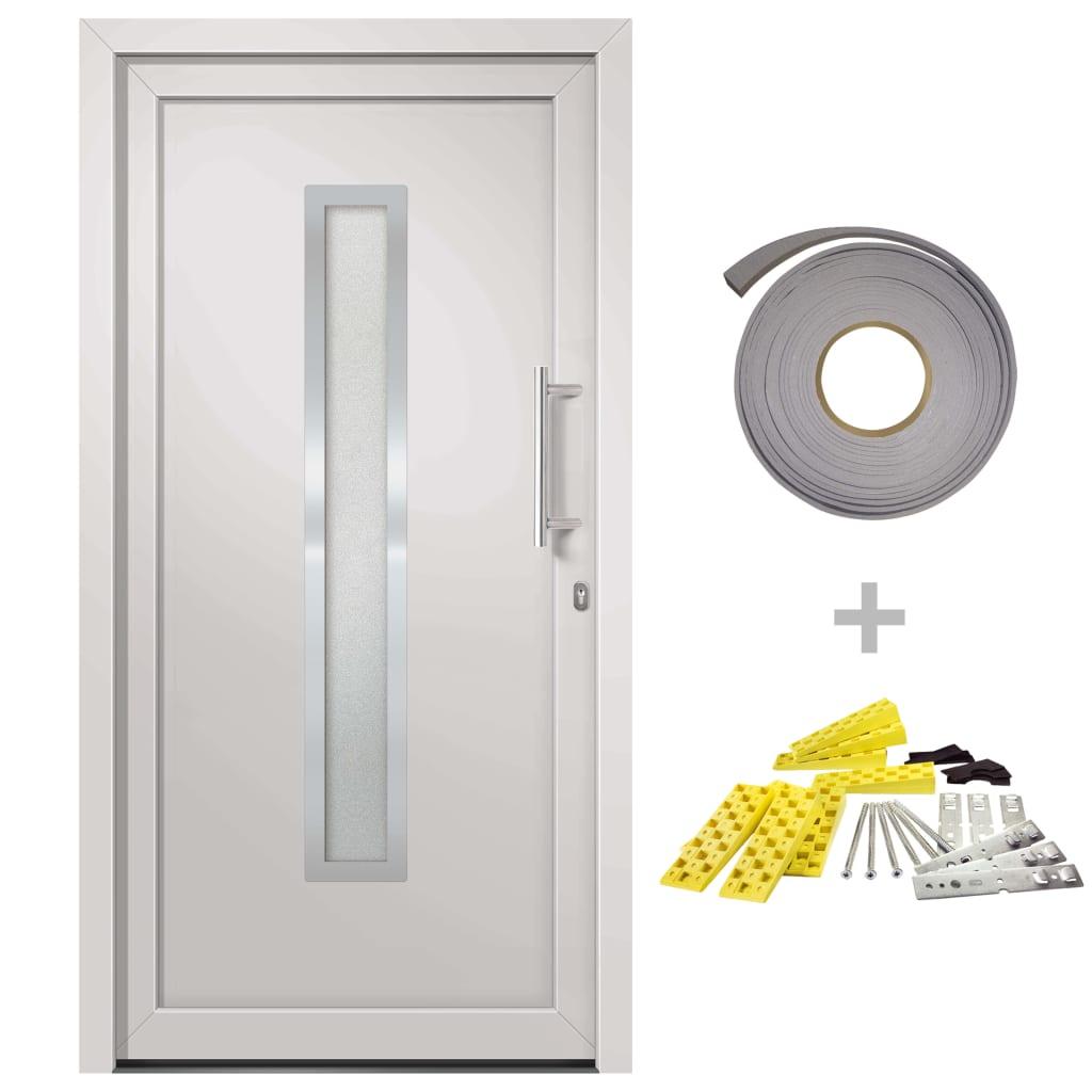 vidaXL Přední vchodové dveře bílé 108 x 200 cm