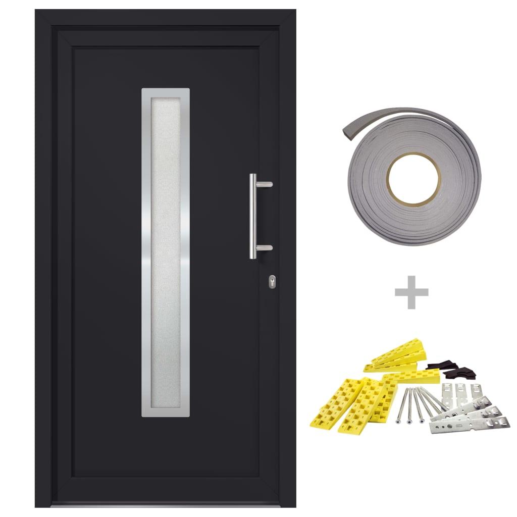 vidaXL Přední vchodové dveře antracitové 88 x 200 cm
